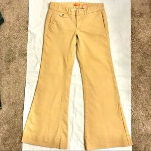 Joe's Jeans Mustard Yellow Wide Bell Bottoms